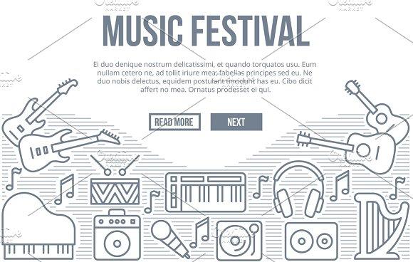 Music Festival Vector Background