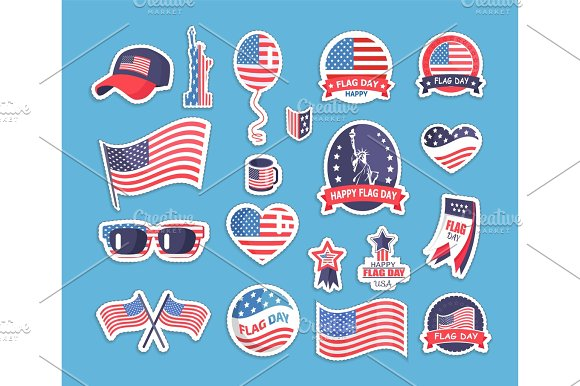 Flag Day Of The USA Themed Souvenirs Collection
