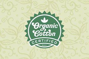 Organic Cotton, a friendly font