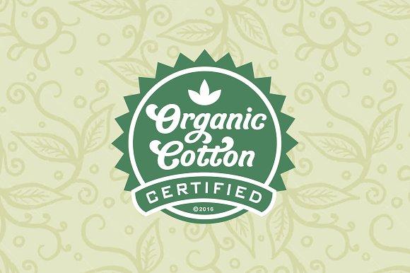Organic Cotton A Friendly Font