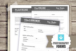 3 Photography Forms Templates - PSD