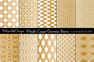 Metallic Copper Geometrics