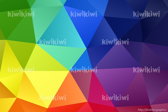 Rainbow Colors Triangular Shapes