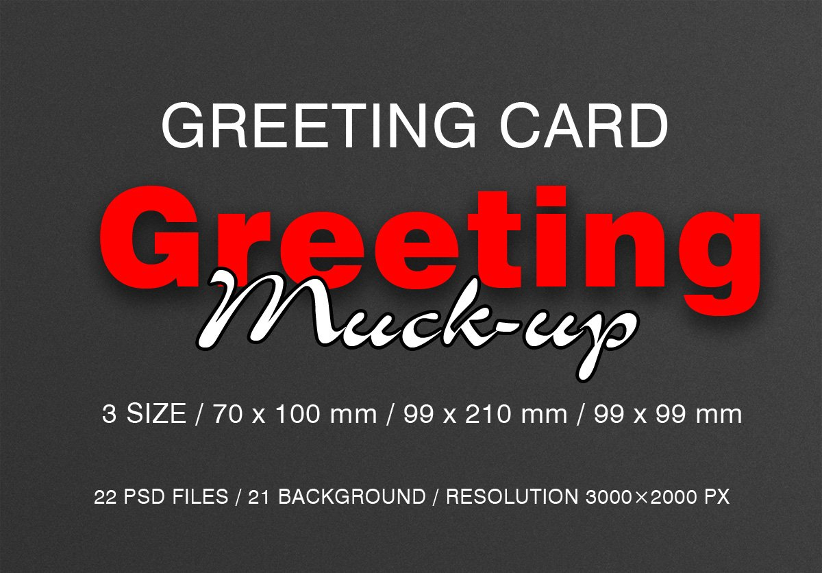Greeting Card Mock Ups Product Mockups Creative Market