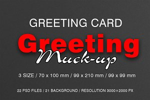 Greeting Card Mock-Ups