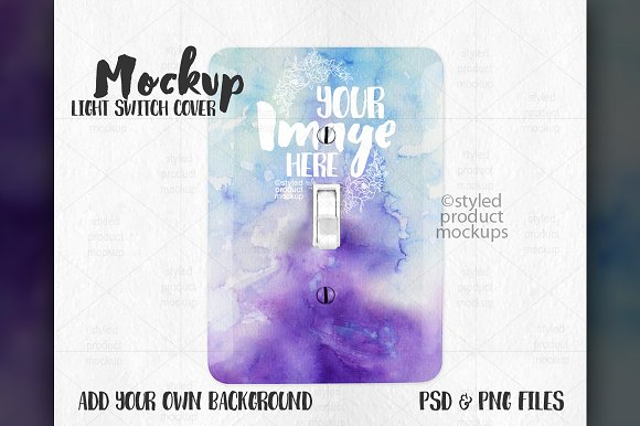 Download Light Switch Cover Mockup
