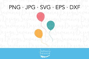 Birthday Balloons SVG Cut Files