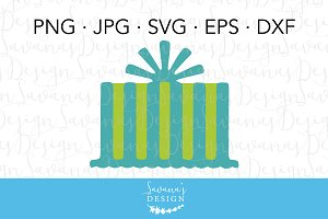 Birthday Gift Clipart and Cut Files
