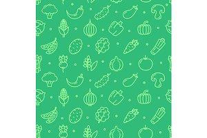Vegetables Pattern Background