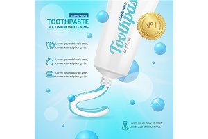 Whitening Toothpaste Concept Card