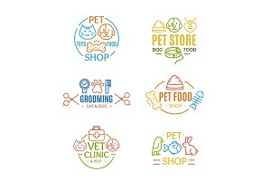 Pet Shop Badges or Labels