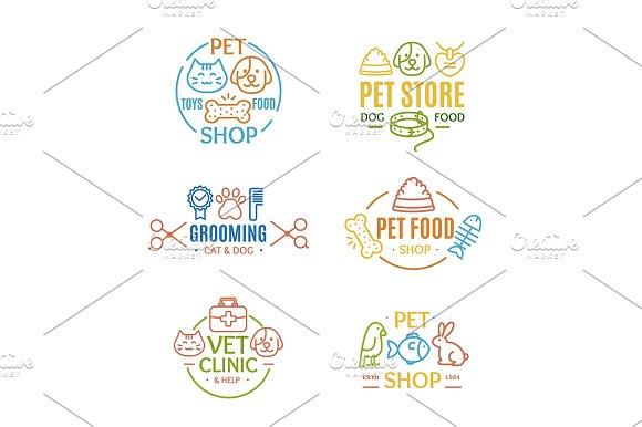 Pet Shop Badges Or Labels
