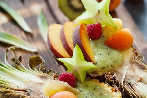 Exotic fruit salad with carambola