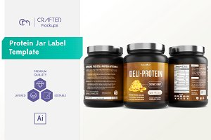 Protein Jar Label Template