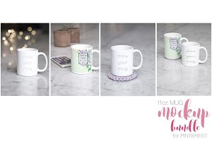 11oz Mug Mockup Pinterest Bundle