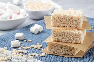 Marshmallow and crispy rice
