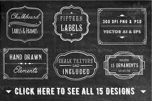 Chalkboard Frame and Label Overlays
