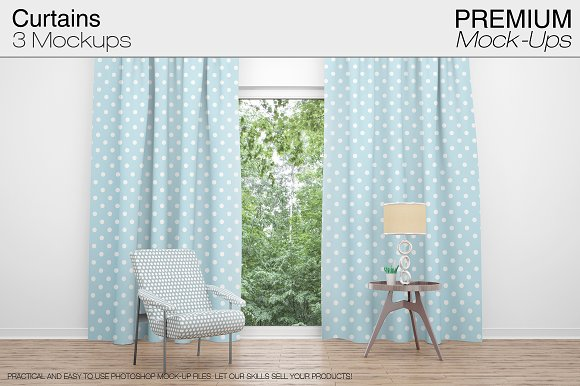 Curtains Mockup