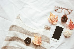 Autumn fashion style concept