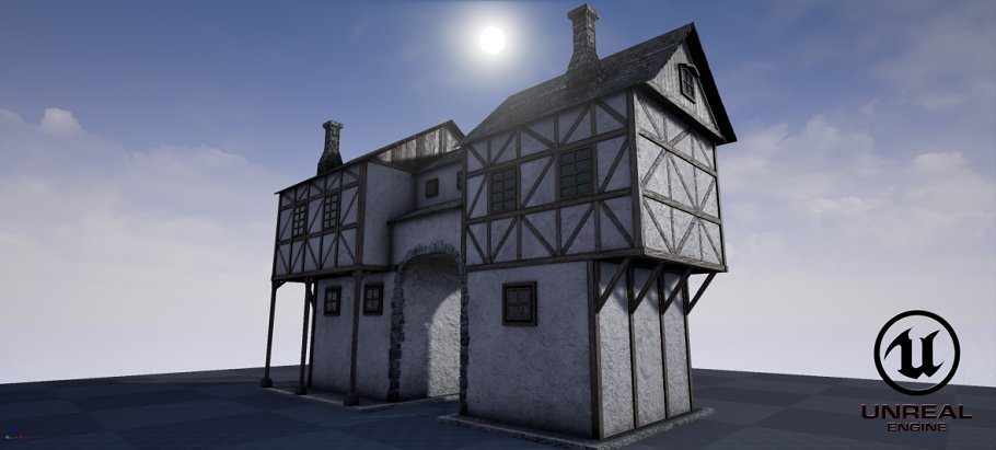 Medieval house B PBR - Creative Daddy