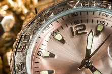 Shiny gold color watch