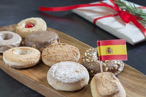 Polvorones (typical food spanish)