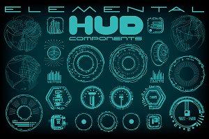 Elemental HUD Components Vectors