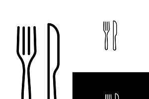Fork and Knife Vector Icon