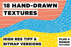 22 Hand Drawn Textures
