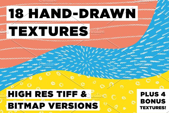 18 Hand Drawn Textures