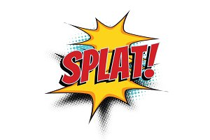 splat comic word