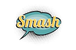 smash comic word