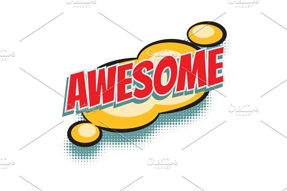 Awesome Comic Word
