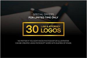 30 Minimal law & attorney logo