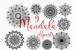 Mandala cliparts & vectors