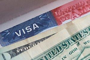 Macro of visa stamp