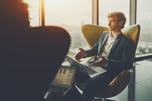Businessman on meeting in office
