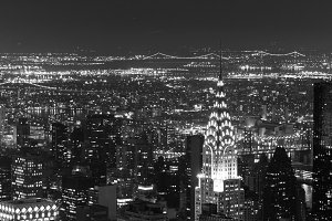 Chrysler Building and  BW Manhattan