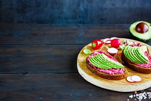 Vegan avocado sandwiches