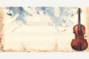 Music violin note sheet background