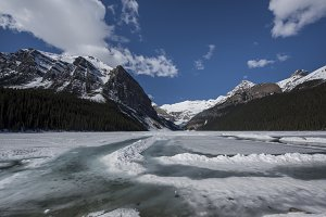 Frozen Lake Louise Banff