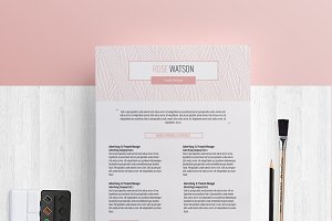 Pinkline pattern CV/ResumeTemplate/G