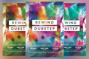 Rewind Dubstep Flyer