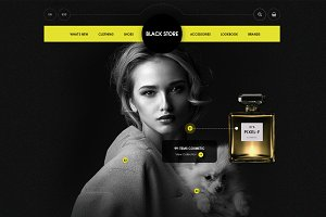 Black Store - PSD Ecommerce Template
