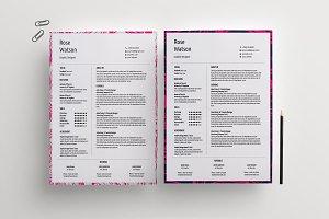 Marble (2Ver) CV/Resume Template/G