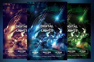 Digital Dance Mix Lights Flyer