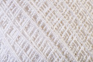 White Yarn close up