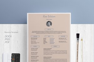 Blue-cream Resume/CV Template/G