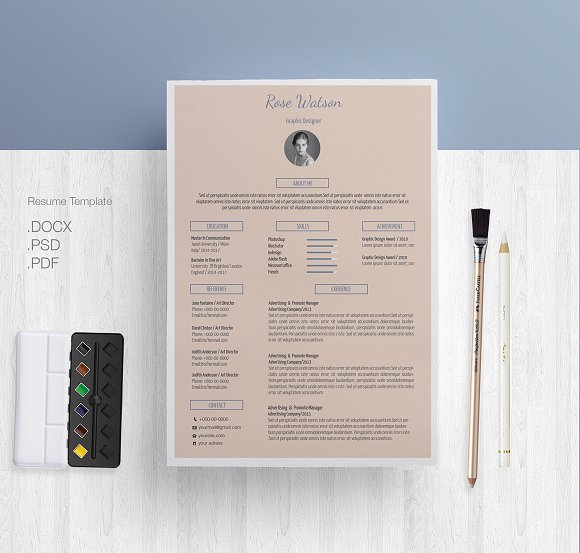Blue-cream Resume CV Template G