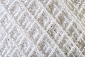 White Yarn close up